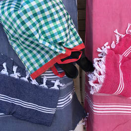 hammam towel -<br>stylish honeycomb pattern (170x100 cm)
