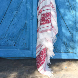 beautiful hammam towel<br>with flower pattern (180x100 cm)