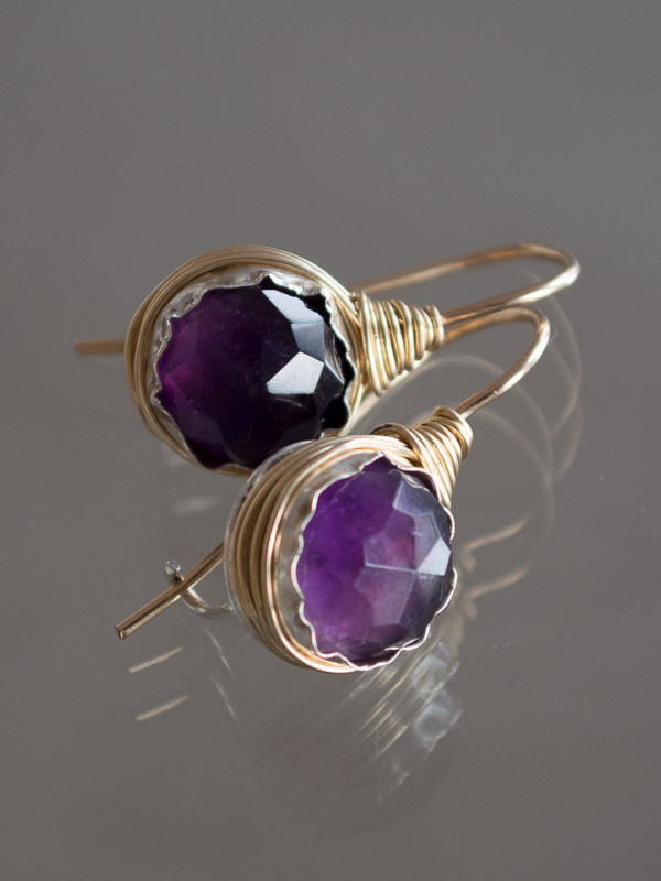 earrings Wire amethyst