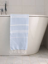 hammam towel light blue/white