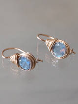 earrings Wire mini labradorite