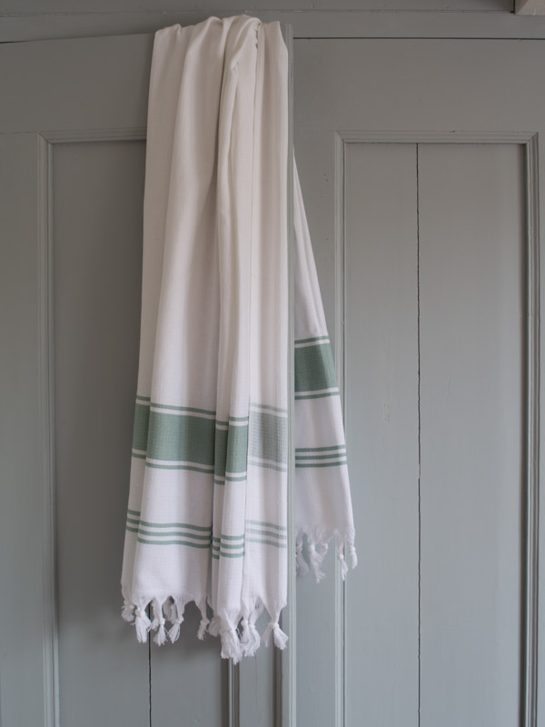 hammam towel white/grey-green