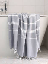 hammam towel grey/white