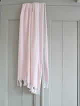 hammam towel with terry cloth, pink