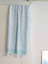 towel dark sea green