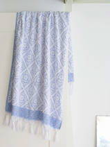 towel greek blue