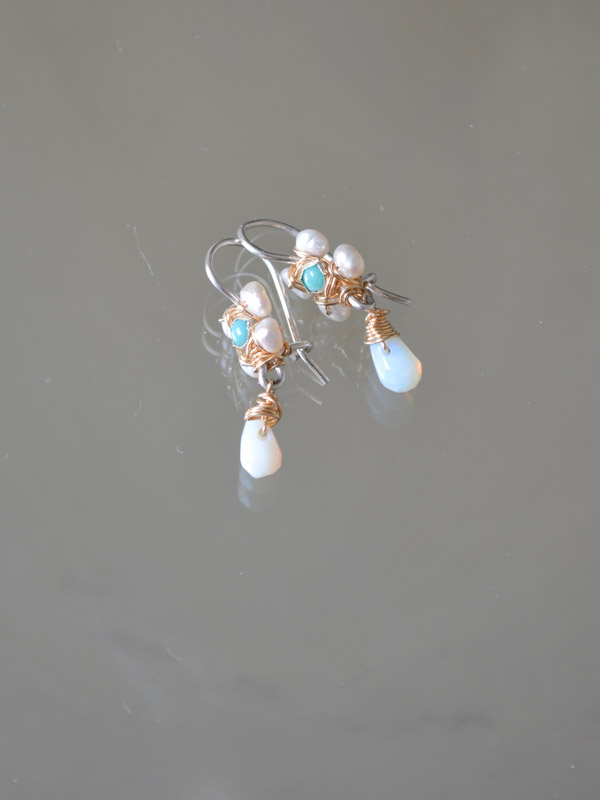 earrings Jasmine mini, turquoise