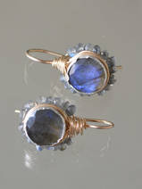 earrings Flower labradorite