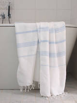 hammam towel white/light blue