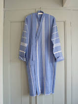 hammam bathrobe size M, greek blue