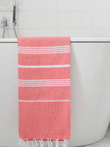 hammam towel brick red/white
