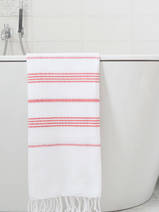hammam towel white/brick red