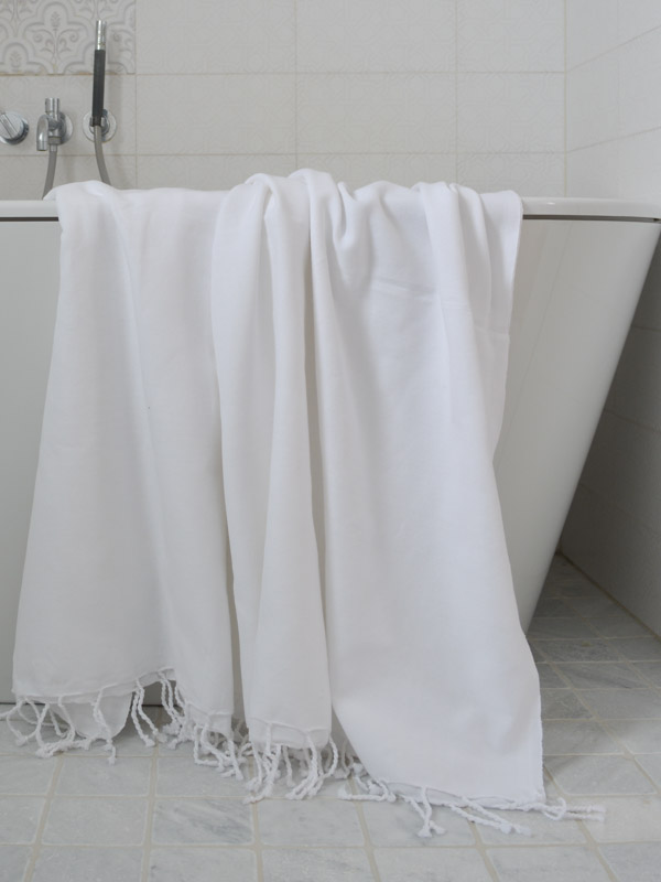 hammam towel plain white