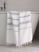 hammam towel white/grey