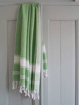 hammam towel pistachio green/white
