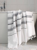 hammam towel white/black