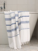hammam towel white/parliament blue