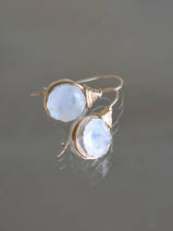 earrings Wire moonstone