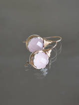 earrings Wire rose quartz