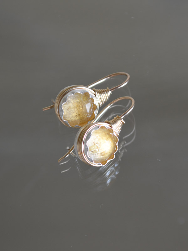 earrings Wire citrine
