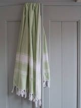 hammam towel light green/white