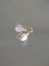 earrings Wire mini rose quartz