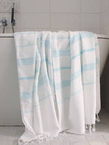 hammam towel white/light turquoise