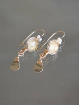 boucles d'oreilles Crown citrine