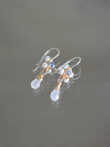 earrings Jasmine labradorite and pearls
