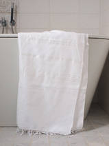 hammam towel white/shiny white stripes
