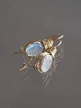 earrings Wire small moonstone