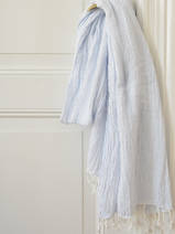 hammam towel double layered light blue