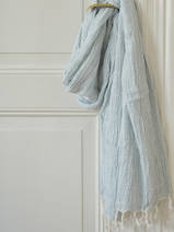 hammam towel double layered sea green