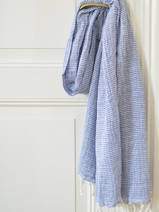 hammam towel double layered greek blue