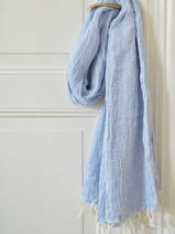 hammam towel double layered blue