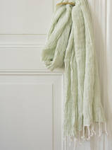 hammam towel double layered light green