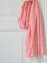hammam towel double layered coral red