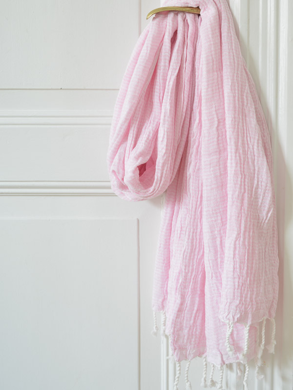 hammam towel double layered pink