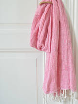 hammam towel double layered fuchsia