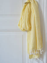hammam towel double layered yellow