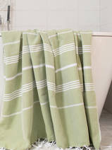 hammam towel moss-green/white