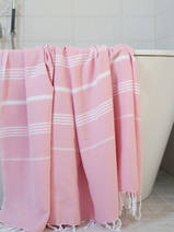 hammam towel powder pink/white