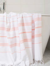 hammam towel white/dark peach