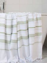 hammam towel white/moss-green