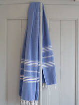 hammam towel greek blue