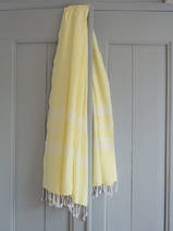 hammam towel lemon yellow
