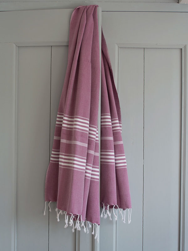 hammam towel raspberry