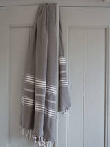 hammam towel dark grey