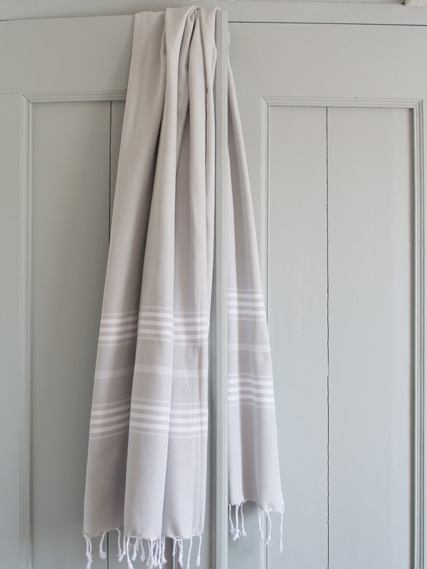 hammam towel light grey