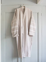 hammam bathrobe size M, grey-beige